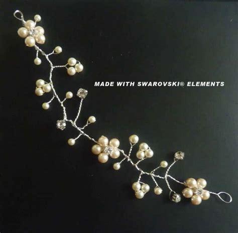 Brautschmuck Creme by Haarschmuck Zur Hochzeit Haarranke Perlen