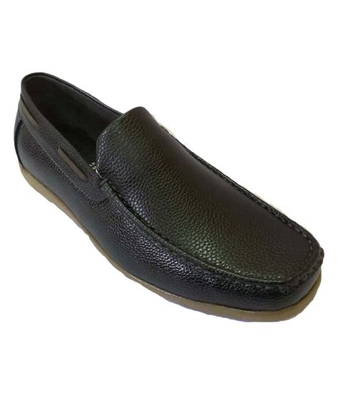 bata black casual leather slip on shoes price in india