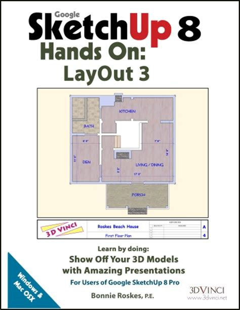 layout sketchup tutorial pdf google sketchup 8 hands on layout 3 e book 3dvinci