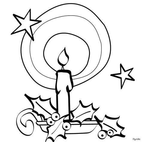 coloring page christmas candle christmas candle pictures az coloring pages