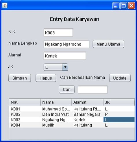 tutorial netbeans database tutorial java netbeans mysql sourcecode sistem informasi