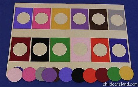 pattern matching for toddlers color matching file folder game preschool pinterest