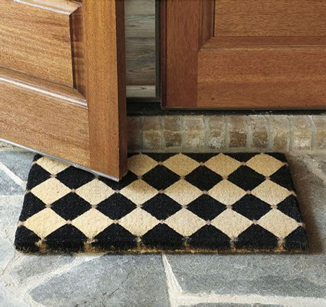 Front Door Mats Outdoor Court Coir Mat Contemporary Doormats By Ballard Designs