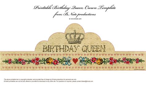 Printable Queen Crown | bnute productions free printable birthday queen crown