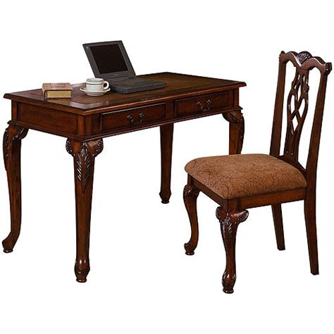 traditional writing desk and chair value bundle
