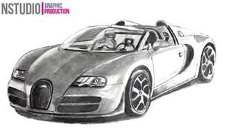 Draw Bugatti How To Draw Bugatti Veyron Sport Car Step By Step Car