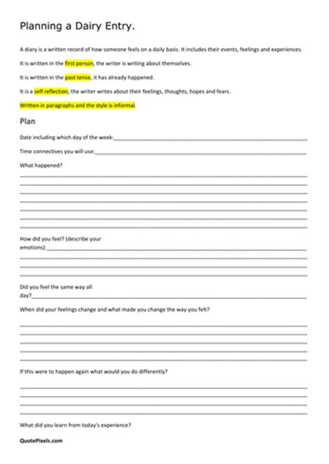 diary writing template ks2 ks2 plan a diary entry by general shahin uk teaching