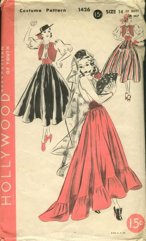 Clothes Pattern In Spanish | hollywood 1426 vintage sewing patterns fandom powered