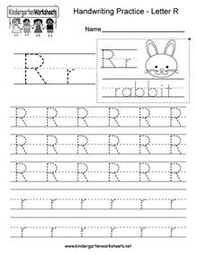 free printable letter r writing practice worksheet for