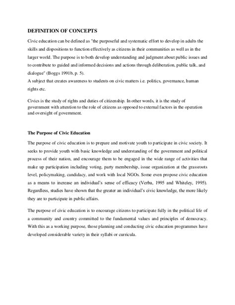 thesis about civic education civic education 2