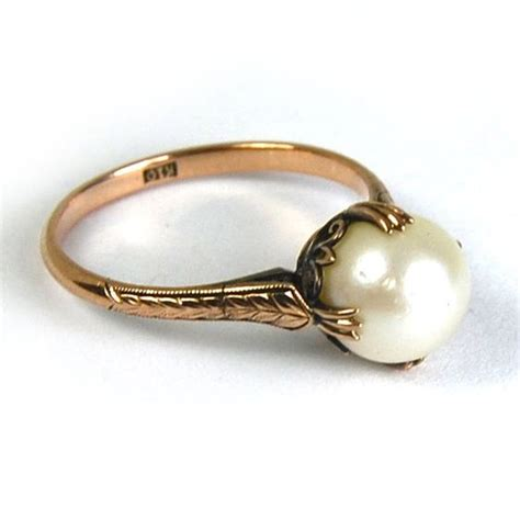 engagement rings diamonds and vintage pearls on