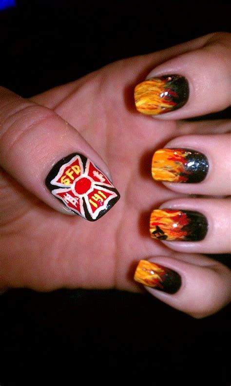 Firefighter Nail Designs firefighter nails firefighting