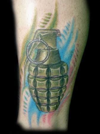 new school grenade tattoo lucky 7 tattoo studio tattoos trevor wilson grenade