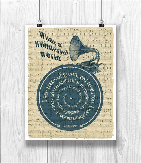 printable lyrics what a wonderful world louis armstrong print what a wonderful world lyrics in