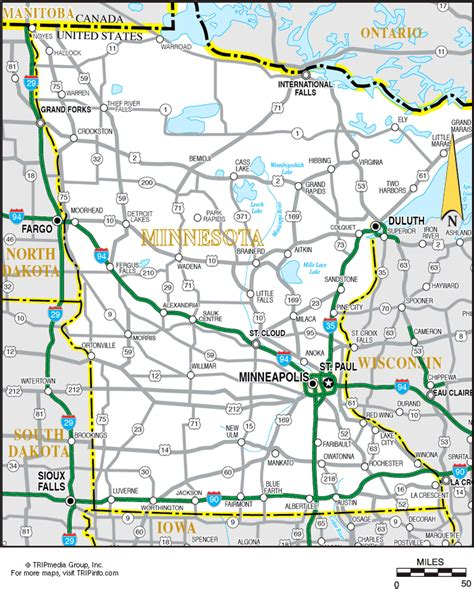 map of mn highways image minnesota highway map