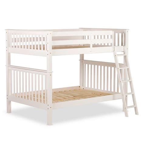 small bunk bed malvern wooden small bunk bed in white 27447