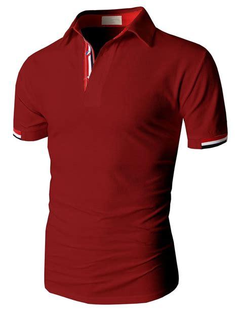 Kaos Giordano Contrast Collar Polo doublju fashion pique cotton polo shirts with sleeve kmtts0115 doublju shirts