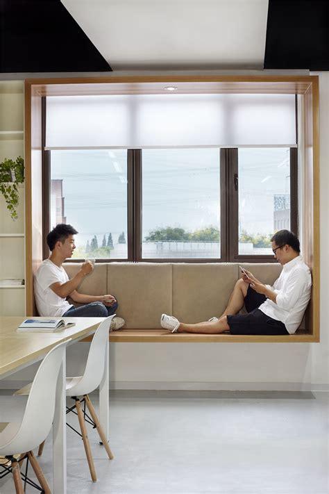 modern window seat idea add  suspended wood surround