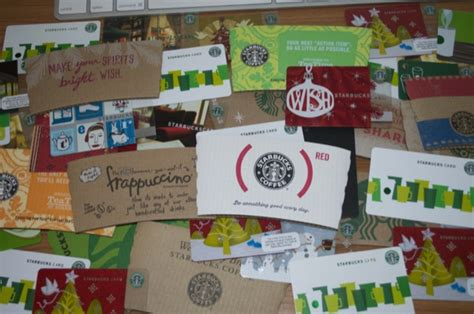 Starbucks Gift Cards Collection - blogentrytopper
