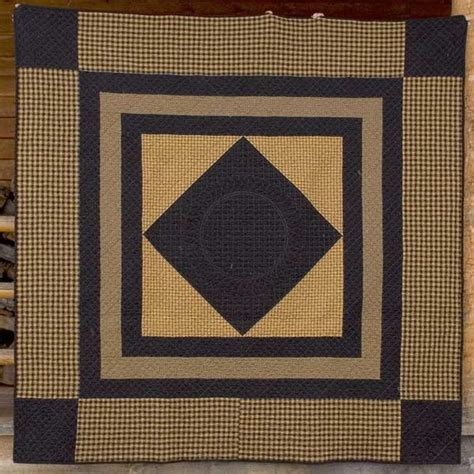 mustard and black amish center quilt project