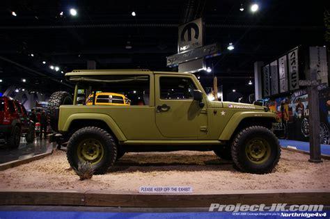 jeep j8 truck sema 2008 flashback j8 sarge jeep truck