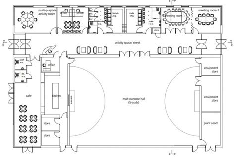 multi purpose hall floor plan 2 pins community the 2 pins community centre