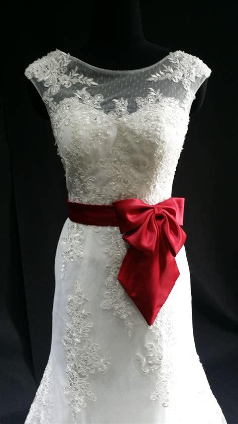 Lowback Ribbon Dress white wedding dress with satin ribbon a line