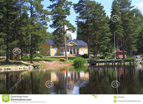 boat building yellow pine finland savonia kuopio modern finnish home stock photos