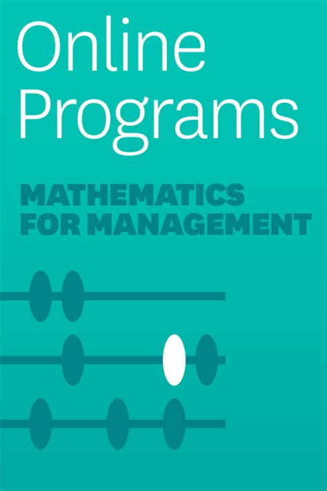 Self Paced Mba by Mathematics For Management A Self Paced Learning Program