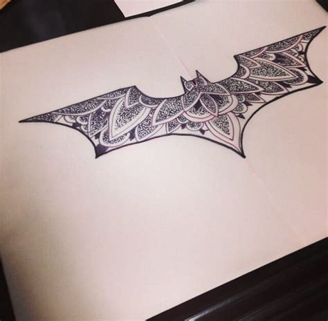 Batman Mandala Tattoo | pin by jody garcia on tattoo pinterest