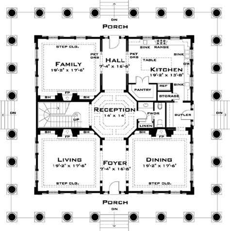 oak alley plantation floor plan house 31195 blueprint details floor plans