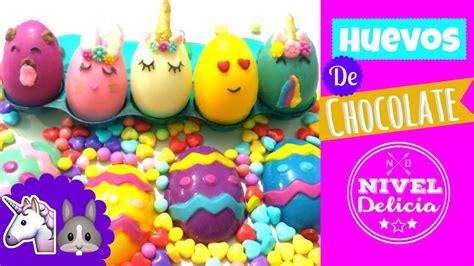 como decorar globos rellenos de harina huevos de chocolate de unicornio huevos de pascua