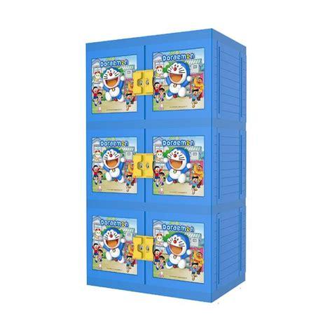 jual naiba 8573 boneka doraemon lemari pakaian biru no