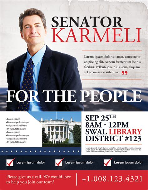 political brochure templates best political flyer templates seraphimchris graphic