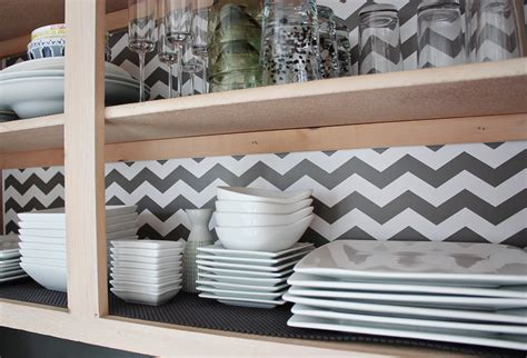 kitchen cabinet liners chevron shelf liner idea decorating ideas pinterest