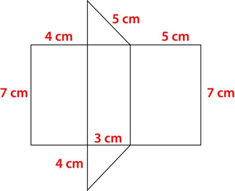 How To Make A Triangular Prism Out Of Paper - surface area of prisms read geometry ck 12 foundation