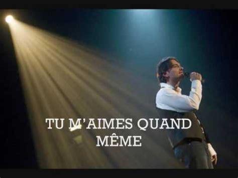 Meme Si Lyrics - nicola ciccone tu m aimes quand m 234 me lyrics
