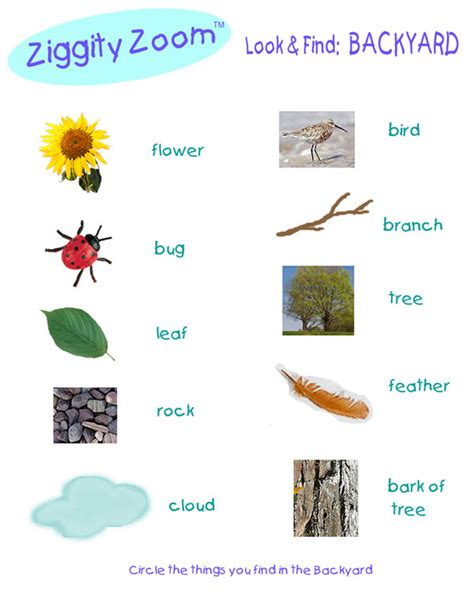 backyard scavenger hunt list scavenger hunt printables for kids ziggity zoom family