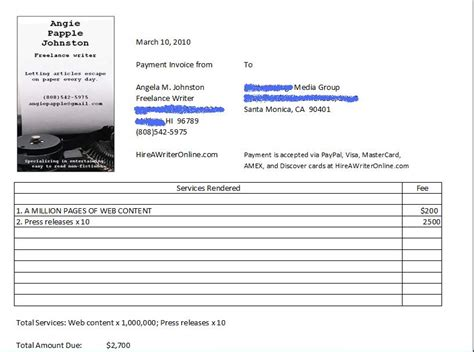 written invoice template how to write an invoice for freelance rabitah net