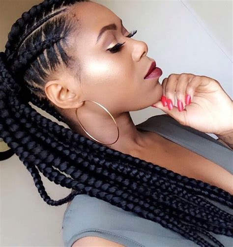 corn rows into ponytails cornrows into long ponytail braided hairstyles