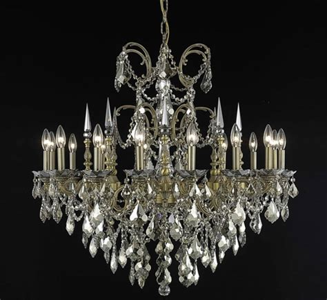 Recessed Light Chandelier Athena Collection 16 Light Large Crystal Chandelier