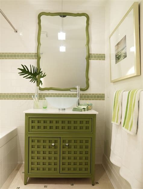Green bathroom vanity contemporary bathroom sarah richardson design