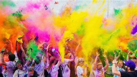 color run weldmar colour run 16th 17th april 2016 pebble bank