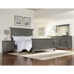 Gray Bedroom Furniture by Asher Lane Gray 6 Piece Queen Bedroom Set