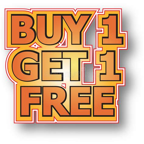 Get The 4 1 1 For Free by Buy 1 Get 1 Free Stock Image Image 15826581