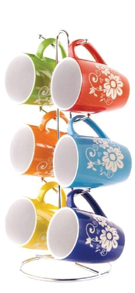 stand l set coffee mug set with stand the coffee table