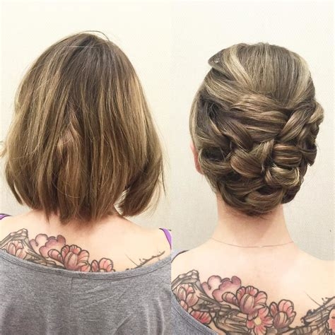 mi hair styles calgary short hair can go up here is a more sleek updo using