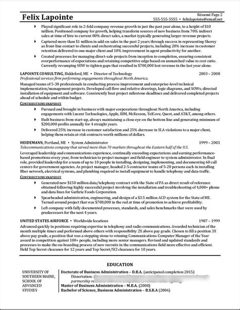 program manager resume exle distinctive documents