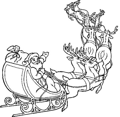 Santa In A Sleigh Coloring Page free coloring pages of santa on his sleigh
