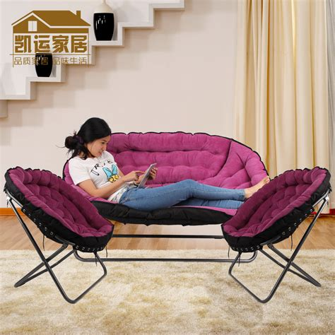 bedroom folding chair three piece sofa chair folding chair leisure chair bedroom